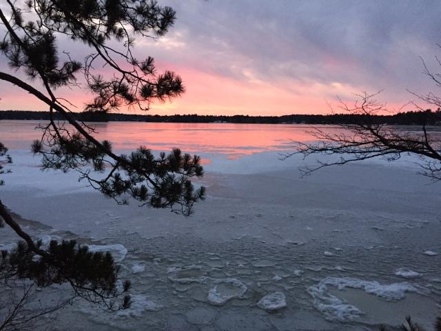 Catfish Lake 2015 freeze